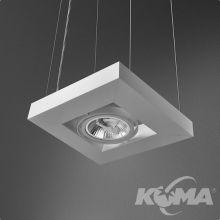 Cadva lampa wisząca biała (mat) 1x100W AR111 230V
