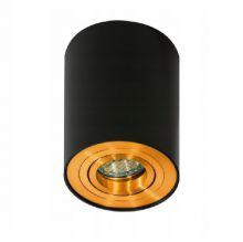 Bross 1 lampa sufitowa 1x50W GU10 czarna złote elementy