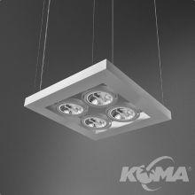 Cadva lampa wisząca biała (mat) 4x100W AR111 230V