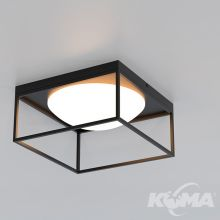 Desigual lampa sufitowa 1x20W E27 szkło opal czarna