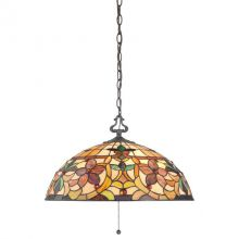 Kami lampa wisząca szkło Tiffany 60W E27