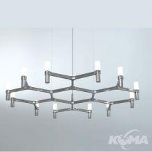 Crown lampa wisząca aluminium polerowane 12x25W G9