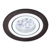 Mini Catli lampa wpuszczana 1x50W GU10 230V aluminium szczotkowane czarne