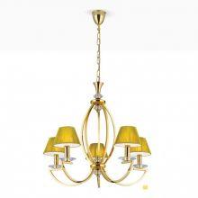 Avala żyrandol pozłacany 24k złoto kryształ swarovski Strass abażury złote nr 4463