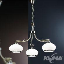 Vego lampa wisząca żyrandol 3x60W E27 230V antyczny mosiądz
