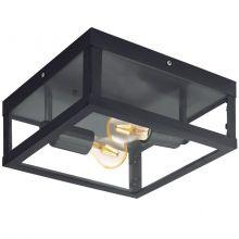 Alamonte plafon zewnętrzny 2x60W E27 230V czarny
