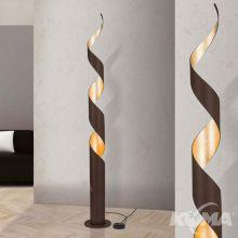Eliano lampa podłogowa stojąca 1x120W E27 230V antyczna/złoty