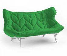 Foliage kanapa 175x84x94cm cloth zielony/bialy