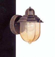 Kinkiet zewnętrzny 18 E27/100W brąz/żółte szkło
