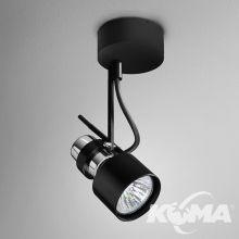 Reflektor 2000 czarny (połysk) 1x50W E27 230V