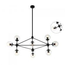 Bao lampa wisząca 10x40W E27 230V czarna/transparentny klosz