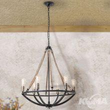 Johann lampa wisząca 6x60W E27 230V antracyt