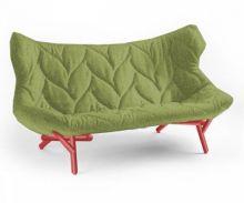 Foliage kanapa 175x84x94cm trevira zielony/czerwony