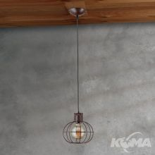 Emil lampa wisząca 1x60W E27 230V brązowa