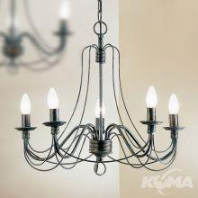 Vela lampa wisząca żyrandol 5x40W E14 230V czarna/zieleń