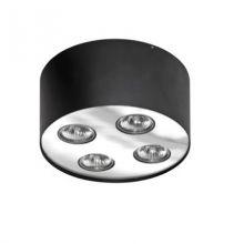 Neos lampa sufitowa 4x50W GU10 230V czarna/chrom