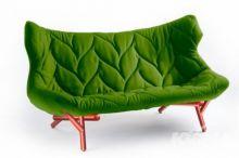 Foliage kanapa 175x84x94cm cloth zielony/czerwony