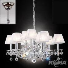 Kristalldesign żyrandol lampa wisząca 9x40W E14 230V chrom
