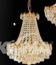 Oprawa wisząca kryształ 5xe14 40W gold Spectra