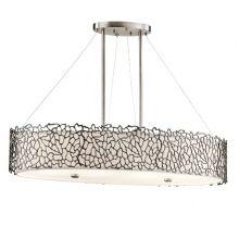 Silver Coral Oval lampa wisząca 4x100W E27 230V