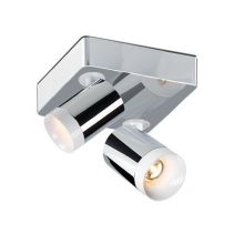 Set Spot Duo reflektor 2x11W LED 2700K 230V chrom + białe elementy