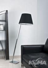 Orlando lampa podłogowa stojąca 1x60W E27 230V chrom / czarny abażur