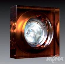 Oprawa halogenowa 1x35W gu5.3 12V 10x10cm amber
