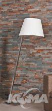 Orlando lampa podłogowa stojąca 1x60W E27 230V biała / satyna