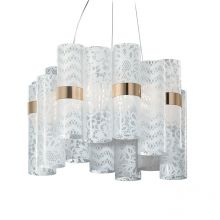 La Lollo lampa wisząca 28W LED 2700K 230V biała - koronka