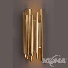 Organic kinkiet 8x1W LED 3000K 230V złoty