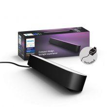 Col Hue Play lampa stołowa/listwa/kinkiet 6,6W LED RGB 230V czarna + zasilacz