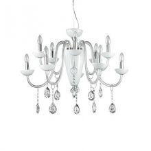 Camelia lampa wisząca 10x40W E14 + 1x60W E27 230V biała
