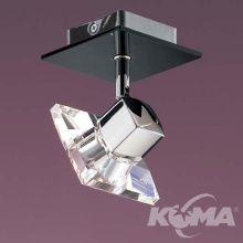 Drop perseo oprawa stropowa G9 1x33W chrom/czarna