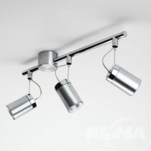 Montana lampa sufitowa-reflektor 3x50W GU10 230V szczotkowane aluminium