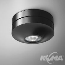 AQLED Plus lampa sufitowa 8W LED 3000K 28° 230V czarna mat