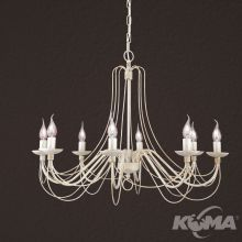 Vela lampa wisząca żyrandol 8x40W E14 230V kość słoniowa/zlłoty