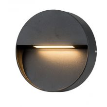 Casoria_Round lampa zewnętrzna ścienna 6W 450lm 3000K IP54 led szary ciemny