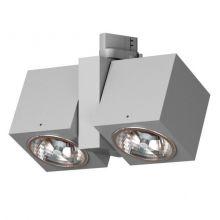 Vision reflektor na szynoprzewód 2x20W G53 12V srebrny aluminiowy mat