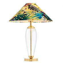 Feria 1 lampa stołowa 1x60W E27 złoty / transparenty / żółty