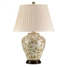 Lampa stołowa 60w/20w le E27 złoto- brązowe liście