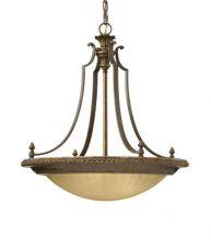 Lampa wisząca złoty/brąz 4x100W E27 a++...e