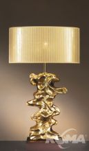 Libero gold lampa stołowa 1x60W E27 złota