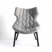 Foliage fotel 70x90x80cm trevira szary/czarny