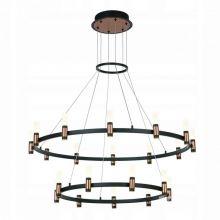 Alamo industrialne ringi  84W LED 3000K czarny mat / szczotkowany kawowy klosz mrożony akryl