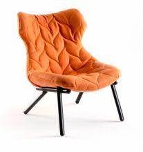 Foliage fotel 70x90x80cm cloth pomaranczowy/czarny