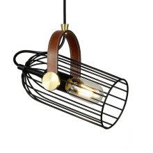 Antoin lampa wisząca industrialna 1x4W E27 czarna