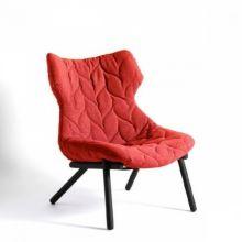 Foliage fotel 70x90x80cm cloth czerwony/czarny