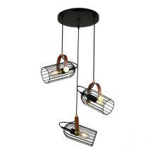 Antoin lampa wisząca industrialna 3x4W E27 czarna