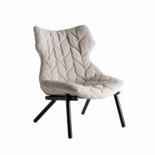 Foliage fotel 70x90x80cm trevira bez/czarny