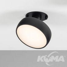 Myco in 160 lampa wpuszczana 1x12,6W led 3000k czarna 1440 lm
